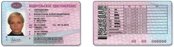 Новое водительское удостоверение фото