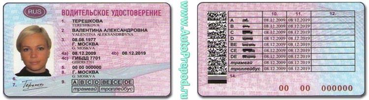 Международные водительские права.